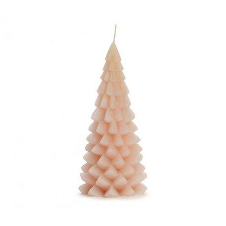 Kerstboom kaars groot (lichtroze)