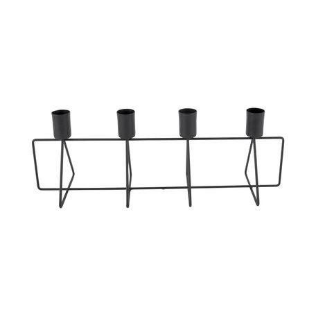 Kandelaar 4 in a Row zwart (outlet)
