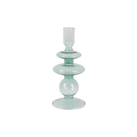 Glazen kandelaar (groen)