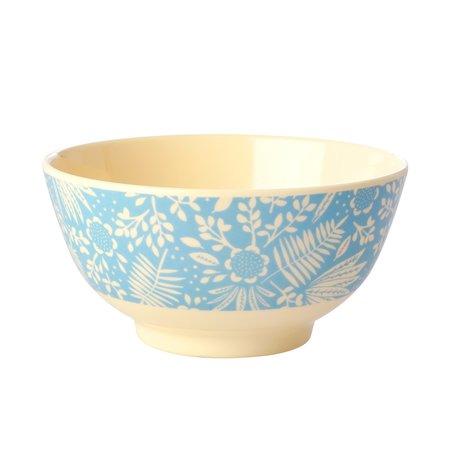 Kom 'Blue Fern & Flower'