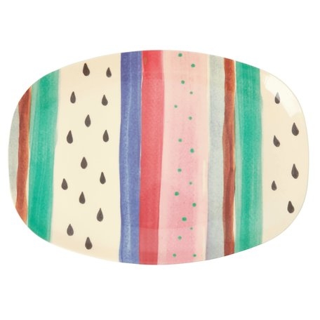 Rechthoekig bord 'Louise's Stripe