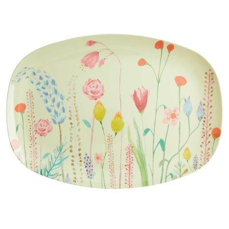 Rechthoekig bord 'Summer Flower'