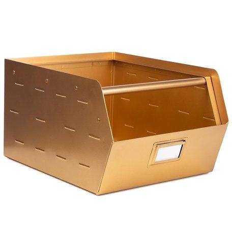 Metalen bak goud