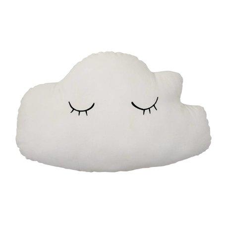 kussen wolk met groene achterkant