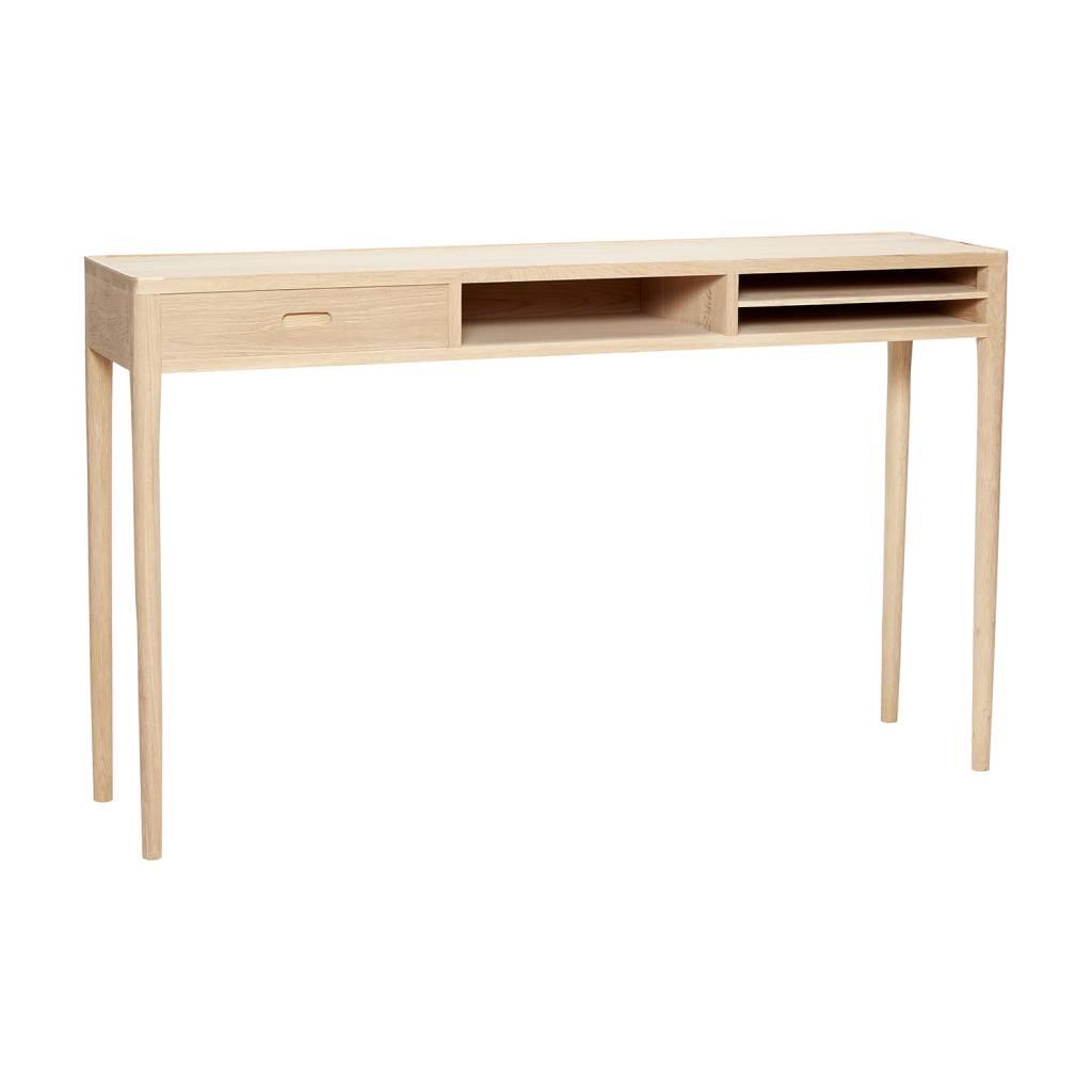 Side Table Met Lade.Side Table Eiken Met Vakken En Een Lade Ippys