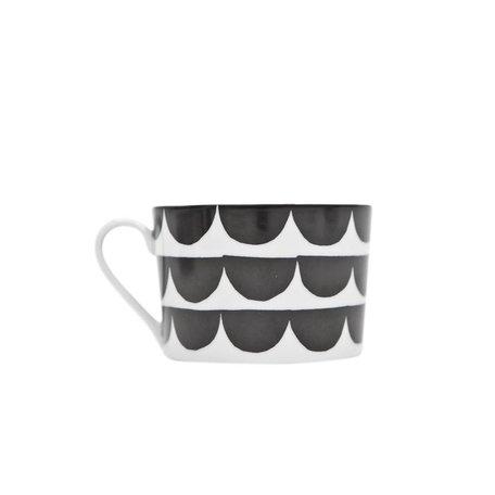 Koffiekop Tu es la vaque - zwart