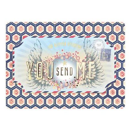 blikje met glitter stickers you send me