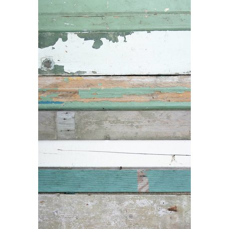 groen sloophout behang
