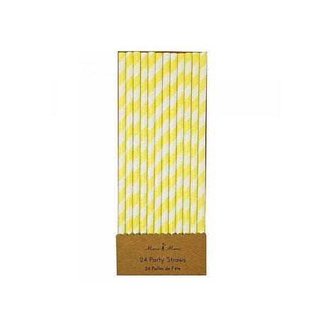 papieren rietjes geel wit gestreept