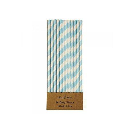 papieren rietjes blauw wit gestreept