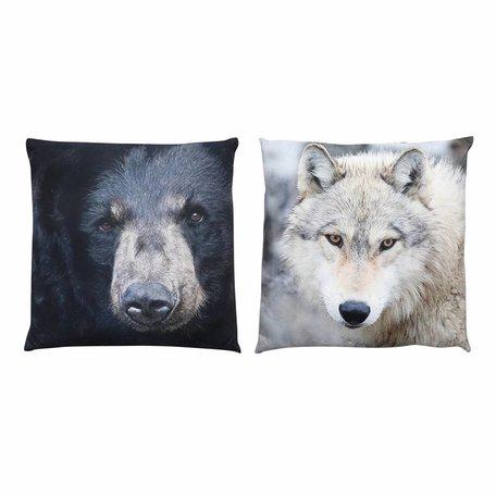 Set van 2 kussens met dierenprint