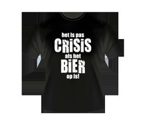 Gadgets Slogan T-Shirts - Bier Crisis