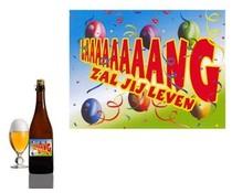 Bierpakket Bierfles Lang zal jij leven