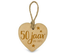50 jaar houten Hartje