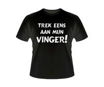 Gadgets Slogan T-Shirts - Trek eens aan mijn vinger