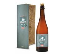 Bierkist Abraham 50 jaar tripel Bier