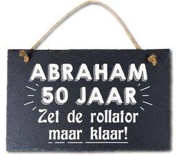 Abraham 50 jaar - Leisteen Abraham 50 jaar