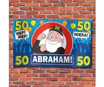 Abraham 50 jaar - Gevelvlag