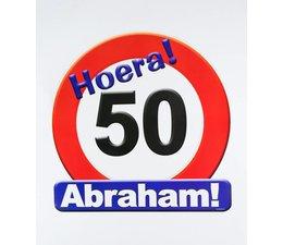 Abraham Huldeschild Verkeersbord