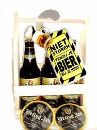 Cadeautip voor hem. Voor ieder budget een leuk en origineel bierrek bierpakket.