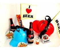Bierpakket Jupiler + Bierhelm