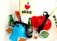 Cadeautip voor hem. Voor ieder budget een leuk en origineel bierhelm bierpakket.