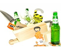 Cadeautips Bierpakket Grolsch Kruiwagen