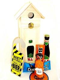 Cadeautip voor hem. Voor ieder budget een leuk en origineel vogelhuisje bierpakket.