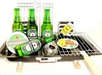 Cadeautip voor hem. Voor ieder budget een leuk en origineel bier barbecue-grill bierpakket.