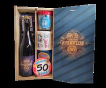 Bierkist Abraham 50 jaar dubbel Bier