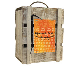 Biercadeau 25 jaar- Houten bierbox