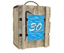 Biercadeau 30 jaar- Houten bierbox