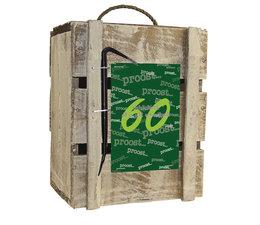 Biercadeau 60 jaar- Houten bierbox    -