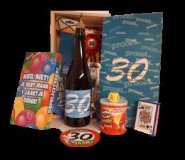Biercadeau 30 jaar- Houten bierkist