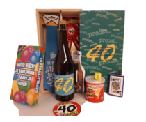Biercadeau 40 jaar- Houten bierkist