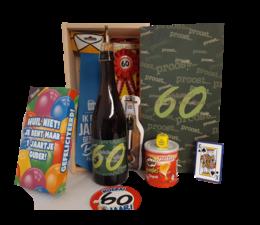 Biercadeau 60 jaar- Houten bierkist