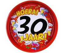 "Biercadeau 30 jaar - Metalen dienblad ""Hoera 30 jaar"""