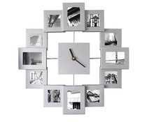 Photo Frame Clock  Silver