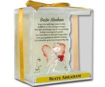 Abraham 50 jaar. Crystal Angel & Bear - Beste Abraham