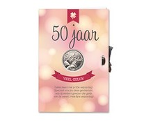 Abraham 50 jaar. Geluksmunt Giftcard - 50 Jaar