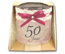 Organza Candle - 50 Jaar