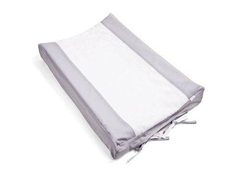 Aankleedkussenhoes grijs (Oxford Grey) - Poetree Kids