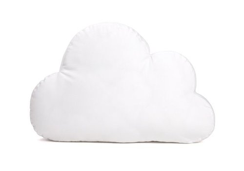 Decoratiekussen wolk wit (Chevron White) - Poetree Kids