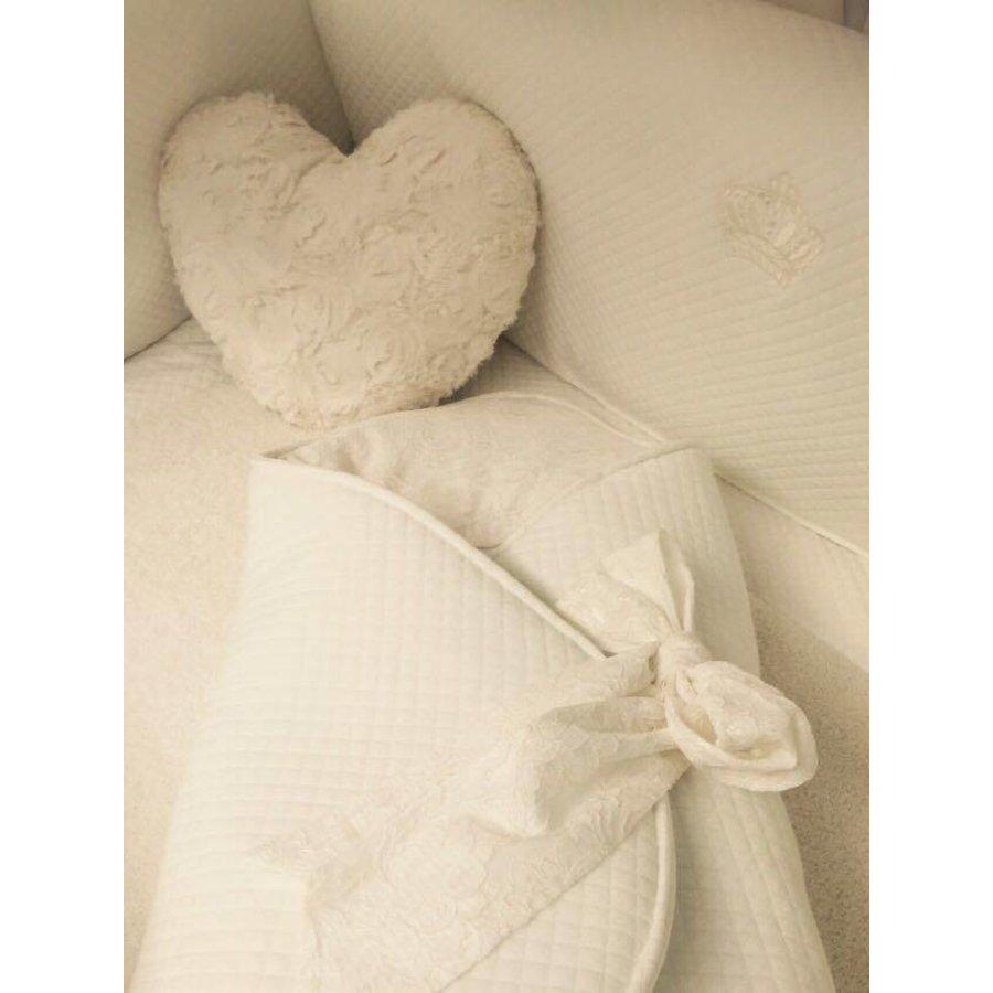 Wikkeldoek met kant (Romantic Collection) - Royal Baby Collection