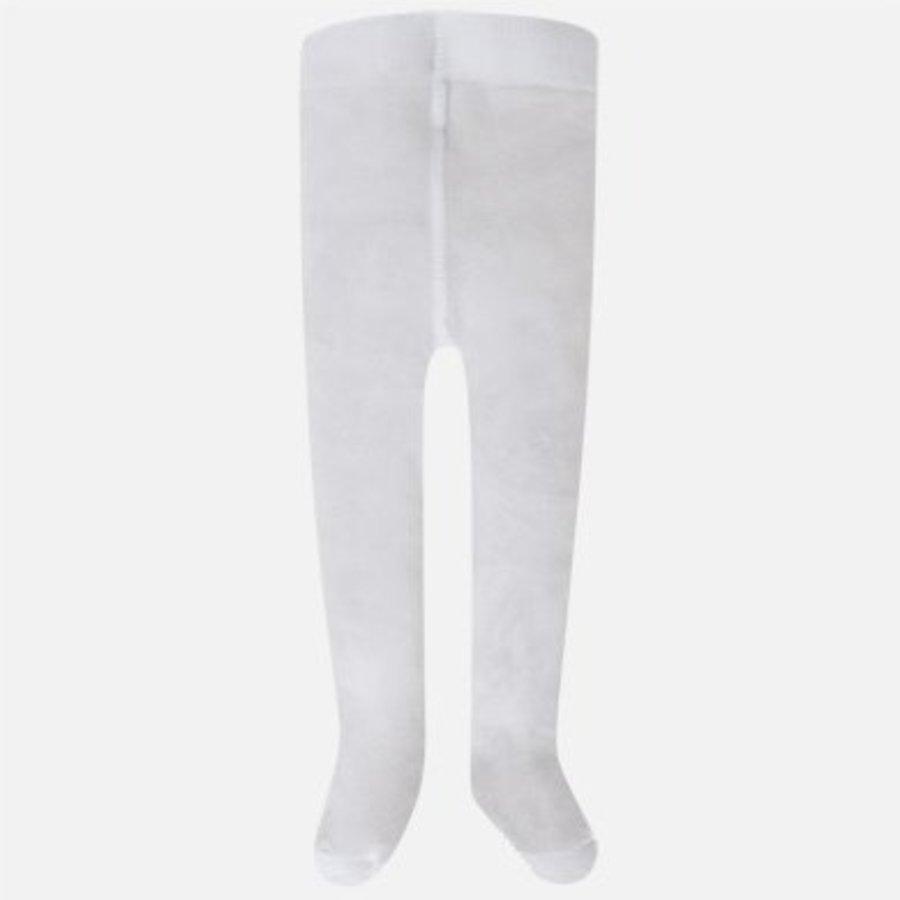 Witte panty met ruffles - Mayoral