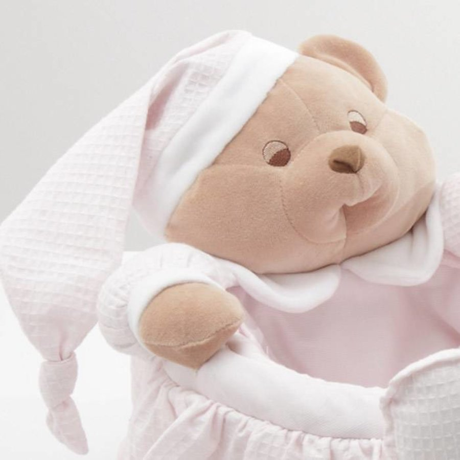 Puccio licht roze beer mand - Nanan