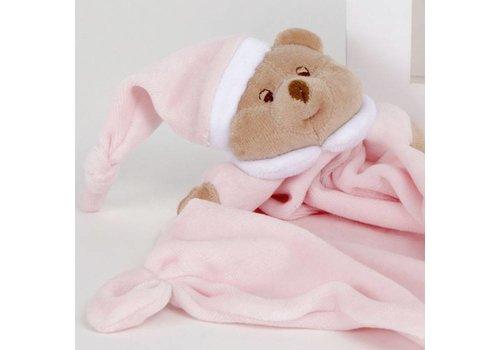 Nanan Puccio roze beer knuffeldoek