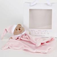 Puccio roze beer knuffeldoek - Nanan
