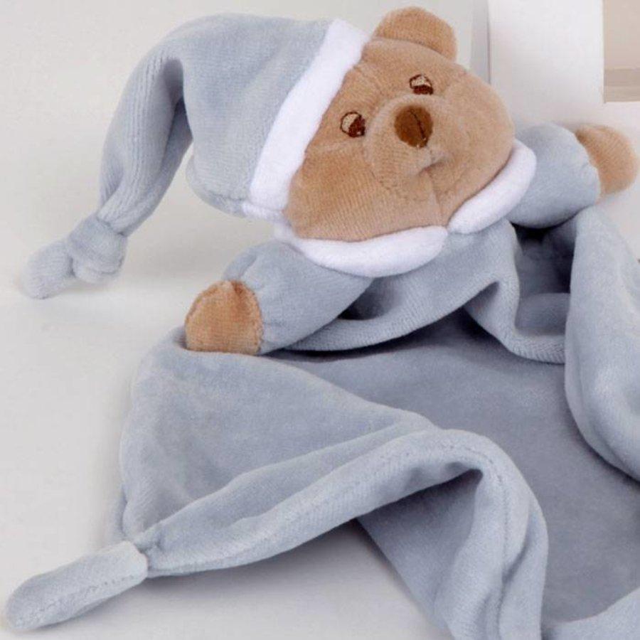 Puccio licht blauwe beer knuffeldoek - Nanan