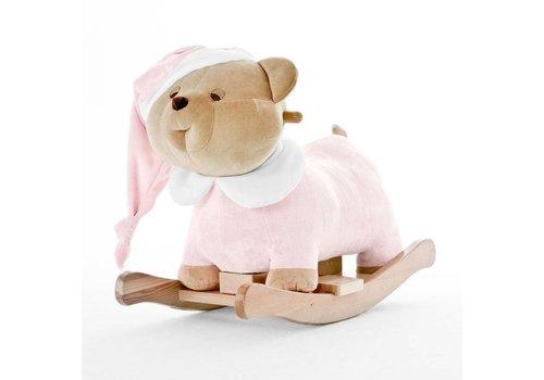 Nanan Puccio roze schommelstoel